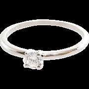 Diamond Engagement Ring | 14K White Gold | Round Brilliant Cut Vintage