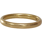 Vintage Wedding Ring | 18K Yellow Gold | Marriage Band England 18ct