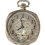 Eterna Gold Pocket Watch | 14K White Open Face | Swiss Art Deco Vintage