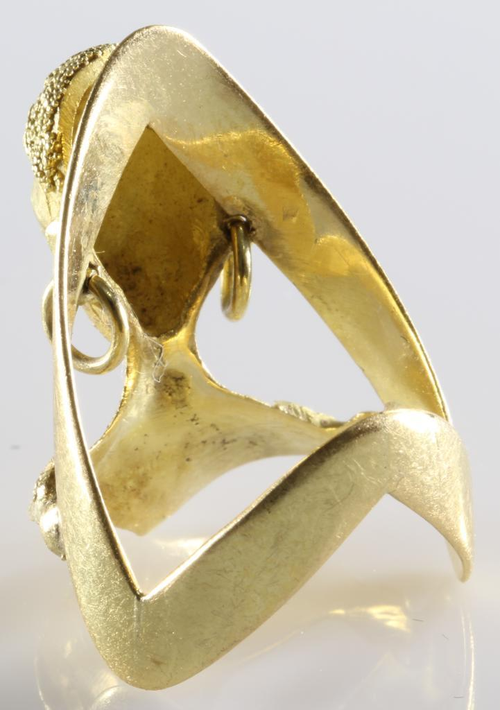 Liberian 18k Gold Ring Yellow African Bust Retro