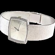 Patek Philippe Mens Watch   18K White Gold Diamond   Swiss Vintage