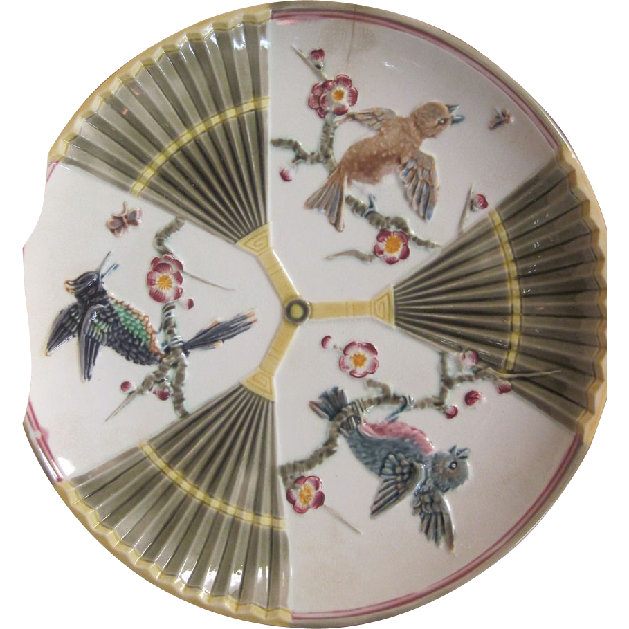 Majolica Plate by Wedgwood