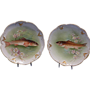 Limoges Fish Plates