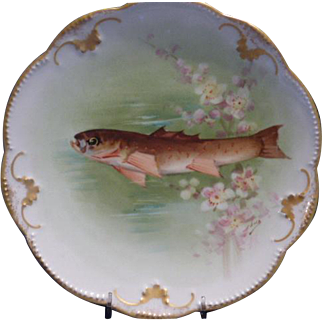 Limoges Fish Plate