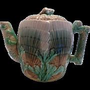Shell & Seaweed Majolica Teapot