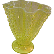 Vaseline Glass Vase