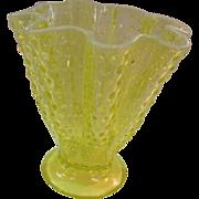 Vaseline Glass Vase