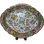 Famille Rose Export ware Platter
