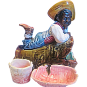 Black Americana Majolica Striker