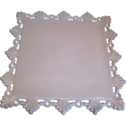 Westmoreland Square Milk Glass Cake Stand