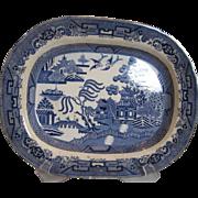 Antique Blue Willow Platter