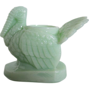 Jadeite Turkey Toothpick Holder