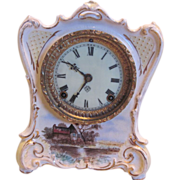 "Royal Bonn Ansonia Clock ""La Charite"""