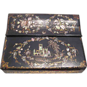 Mother of Pearl & Lacquer Lap Desk