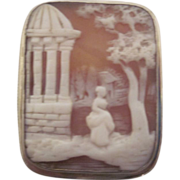 Cameo Mourning Brooch