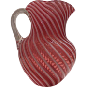 Cranberry Opalescent Swirl Pitcher