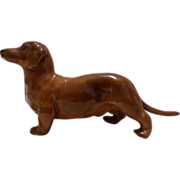 Royal Worcester Dachsund Figure