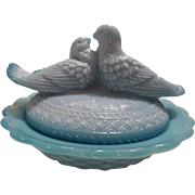 Love birds on Nest candy dish