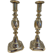 Diamond Princess Brass Candlesticks