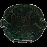 Majolica Greenware English Plate