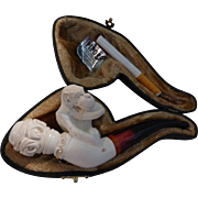 Meerschaum Pipe with Monkey