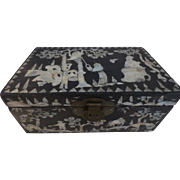 Black Lacquered Mother of Pearl Box