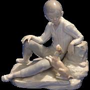 """Ll;adro figurine """"Boy with Dog"""""""