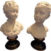 Tharaud limoges Parian Busts