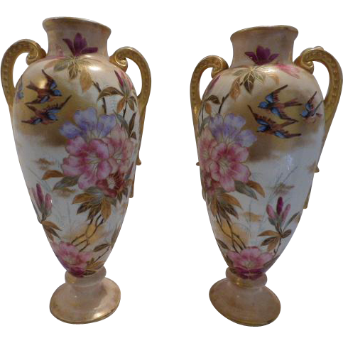 royal bonn vases from suzieqs on ruby lane. Black Bedroom Furniture Sets. Home Design Ideas