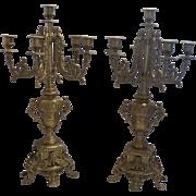 Candelabras Bronze pair