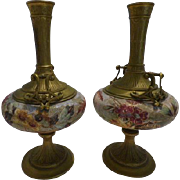 French Bronze and Porcelain Vases
