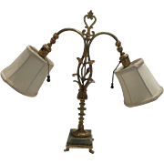 Art Deco Style Bronze Desk Lamp