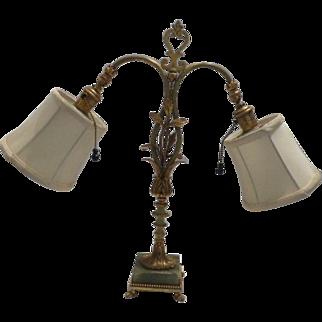 Art Deco Style Bronze Desk Lamp