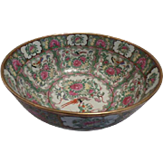 Rose Canton Punch Bowl