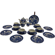 Blue Willow Tea Set, Child's Miniature