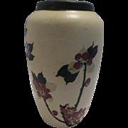 Weller Hudson White Decorated Vase