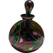Perfume Bottle; Carnival Glass