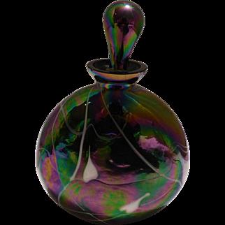 Perfume Bottle; Carnival Glass
