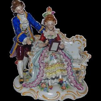 Sitzendorf Porcelain Figural Grouping