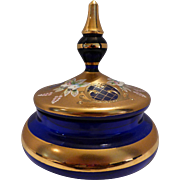 Cobalt Blue Covered Dish