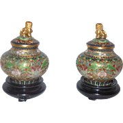 Cloisonne, Miniature Ginger Jars