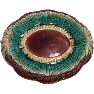 Majolica Wheat Bread Tray