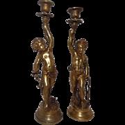 Figural Rococo Candlesticks