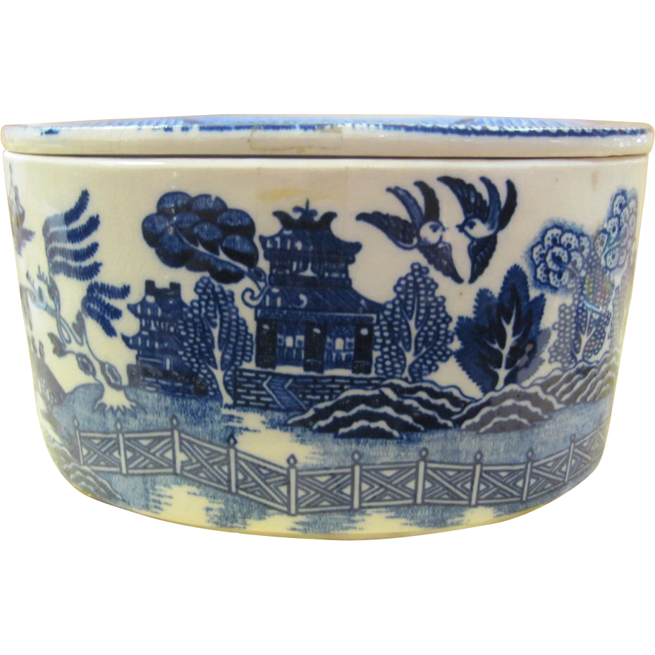 Blue Willow Refrigerator Dish