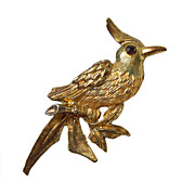Vintage Gold Toned Bird Brooch circa 1960's