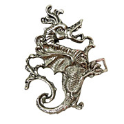 Metal Dragon Belt Buckle