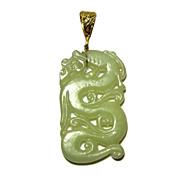 Figural Dragon Jade Pendant