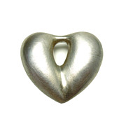 Brushed Silverplated Heart Pendant
