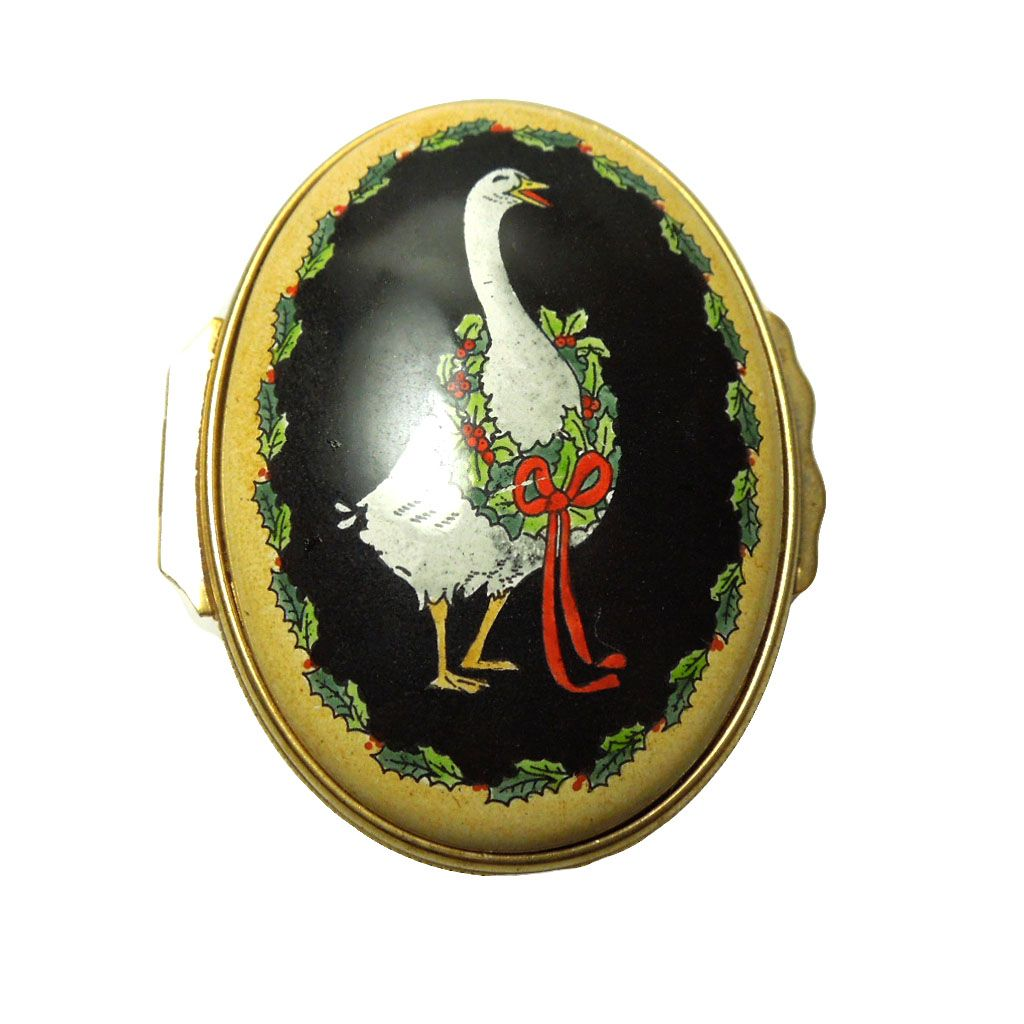 Vintage Halcyon Days Enamel Trinket/Pill Box