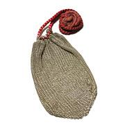 Vintage Silver Chain Mesh Bag
